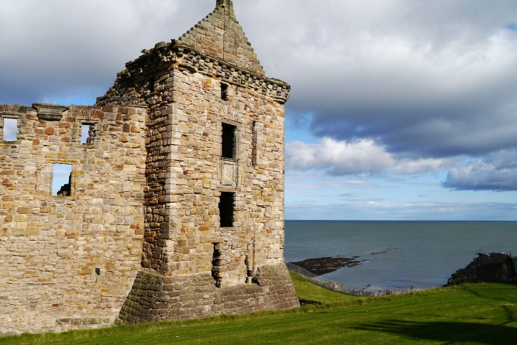 frontage of the ruin of St Andrews Castle